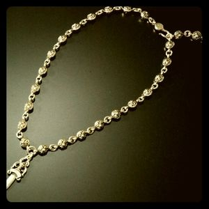 Authentic chrome hearts dagger ball chain necklace